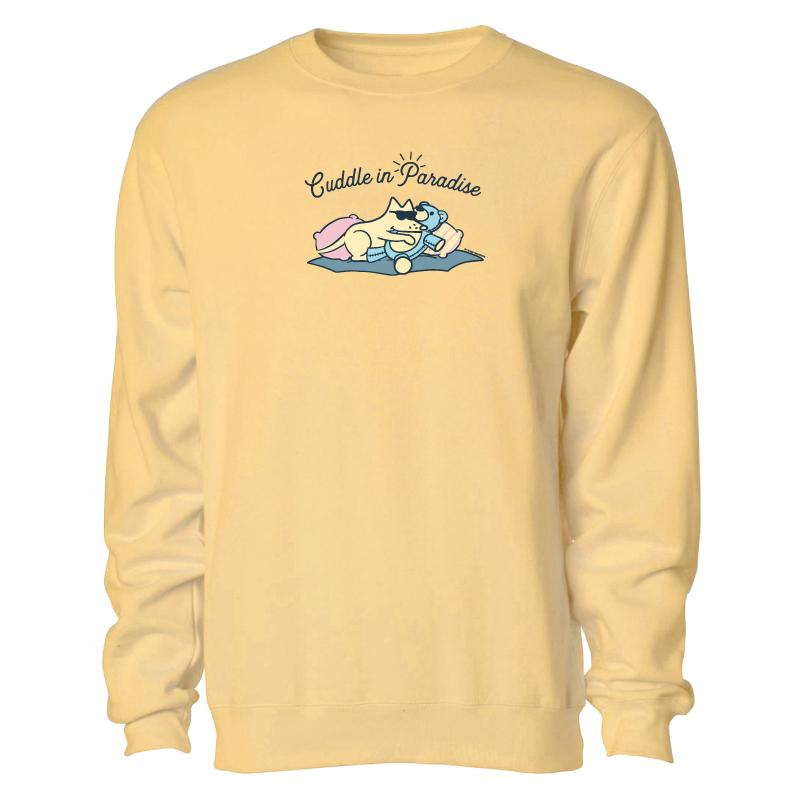 Cuddle In Paradise - Crew Neck Sweatshirt