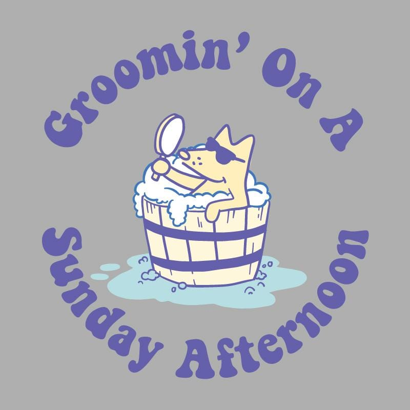 Groomin' On A Sunday Afternoon - Ladies Long-Sleeve T-Shirt