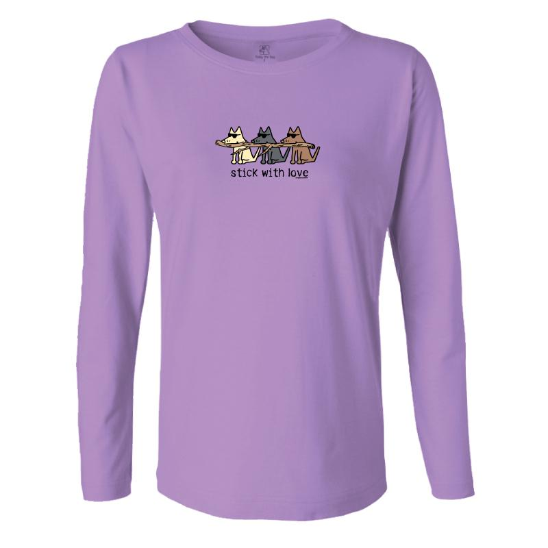 Stick With Love - Ladies Long-Sleeve T-Shirt