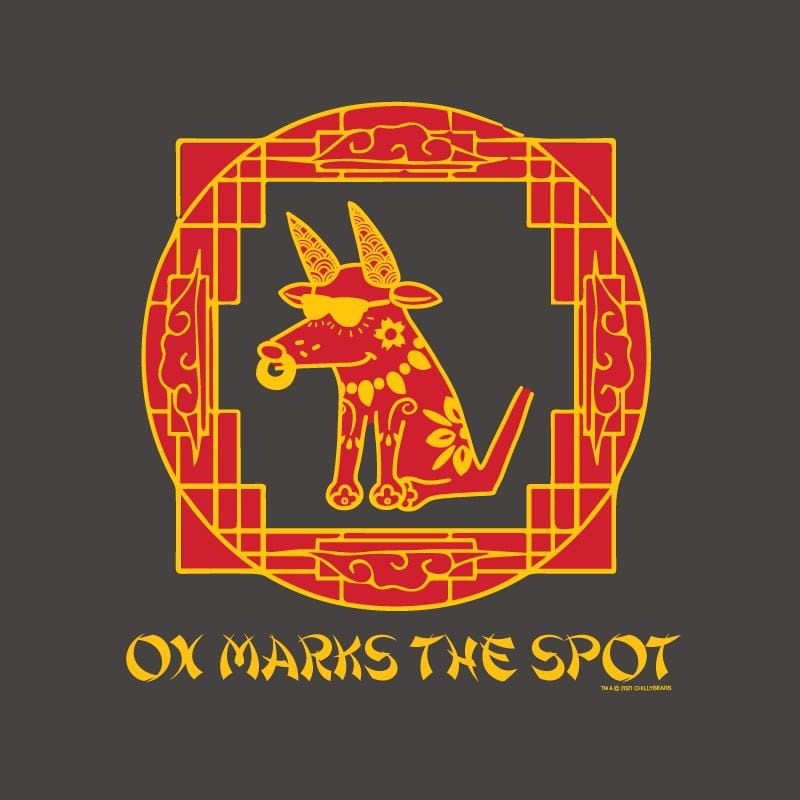 Ox Marks The Spot - Ladies Curvy V-Neck Tee