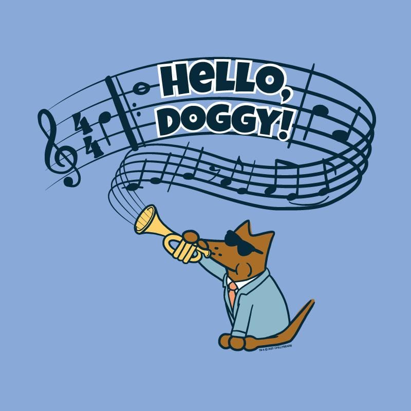 Hello, Doggy! - Ladies Curvy V-Neck Tee