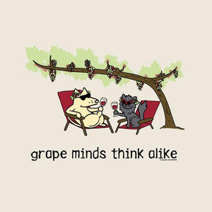 Grape Minds Think Alike - Ladies T-Shirt V-Neck