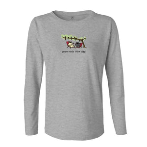 Grape Minds Think Alike - Ladies Long-Sleeve T-Shirt