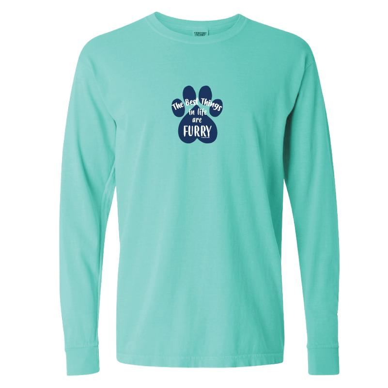 The Best Things In Life Are Furry - Classic Long-Sleeve T-Shirt