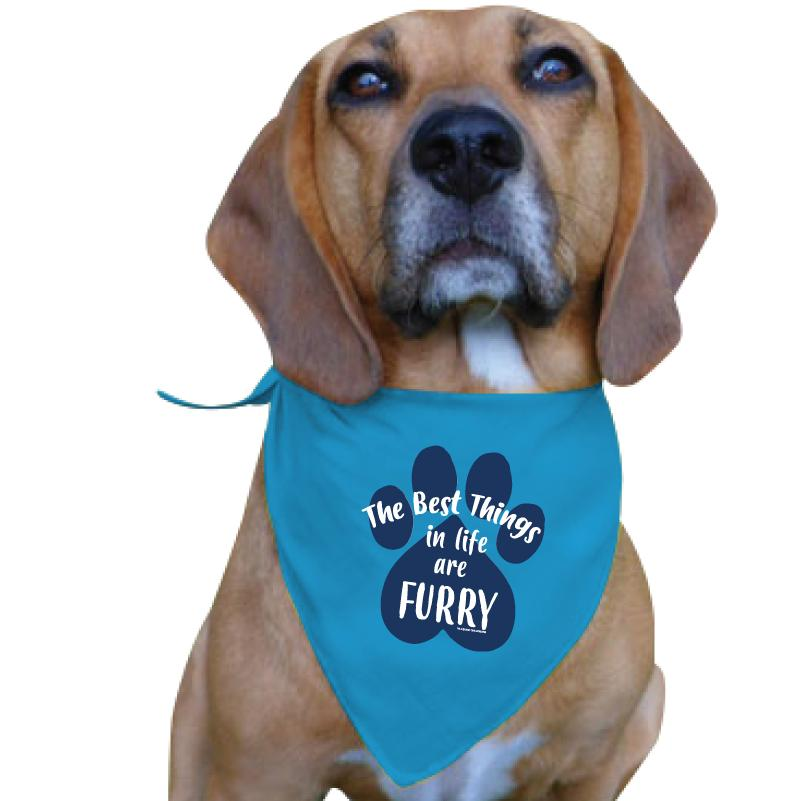 The Best Things In Life Are Furry - Doggie Bandana