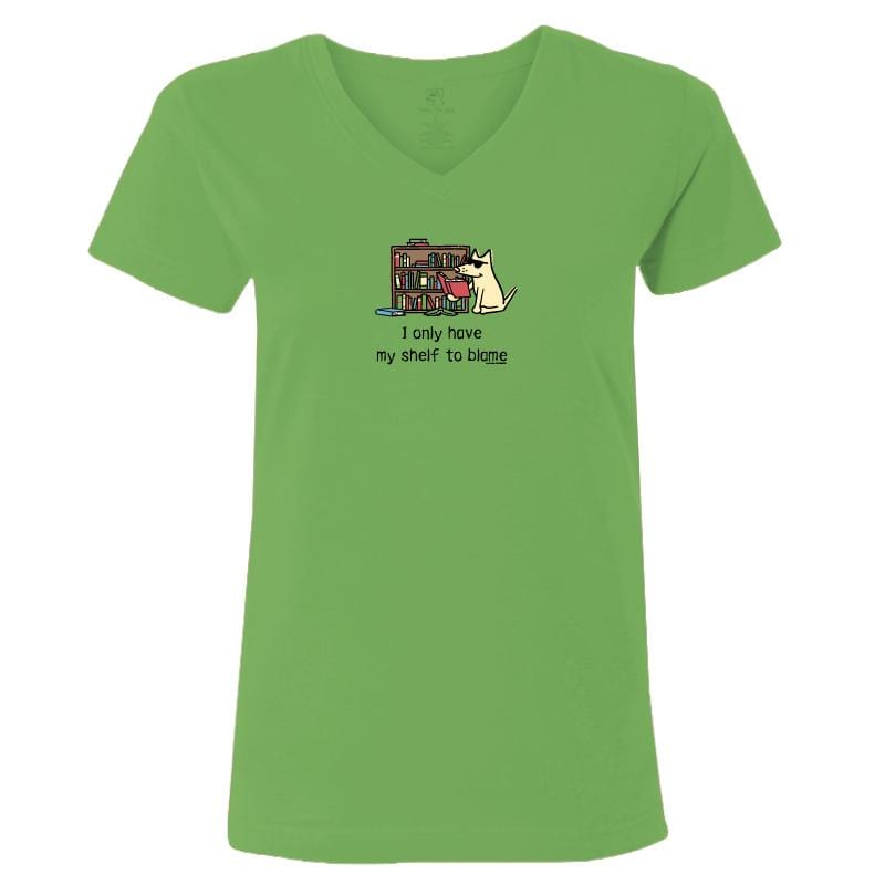 I Only Have My Shelf To Blame - Ladies T-Shirt V-Neck