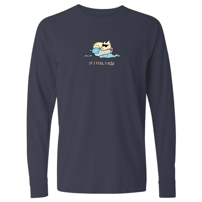 If I Fits, I Sits - Teddy - Classic Long-Sleeve T-Shirt