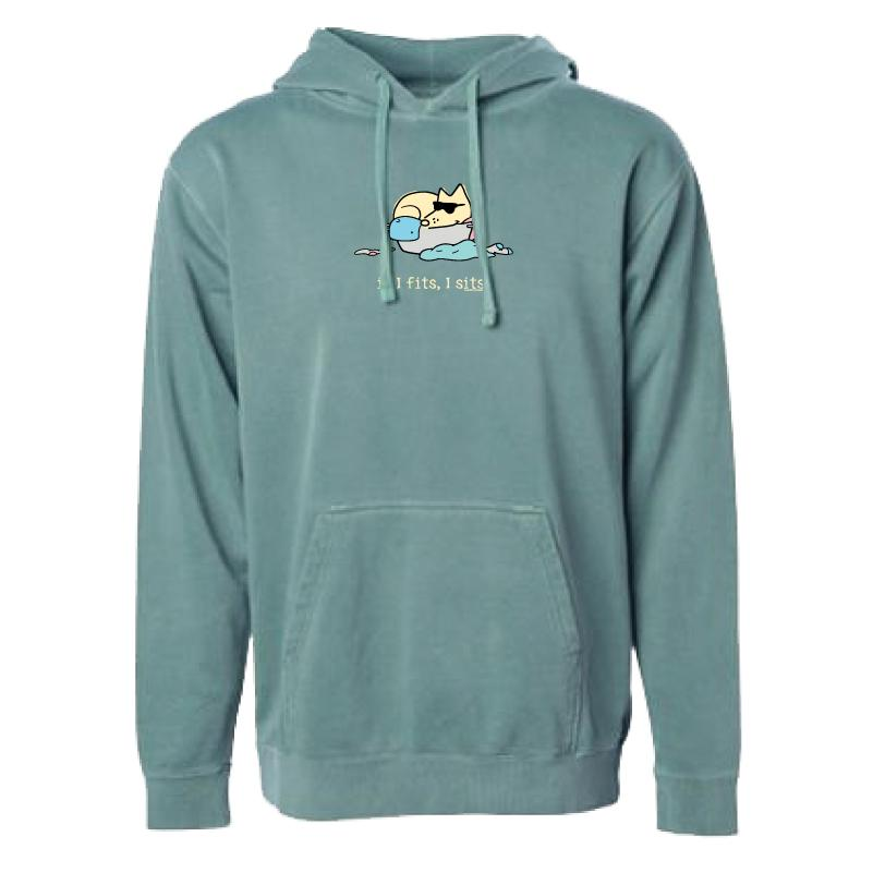 If I Fits, I Sits - Teddy - Sweatshirt Pullover Hoodie