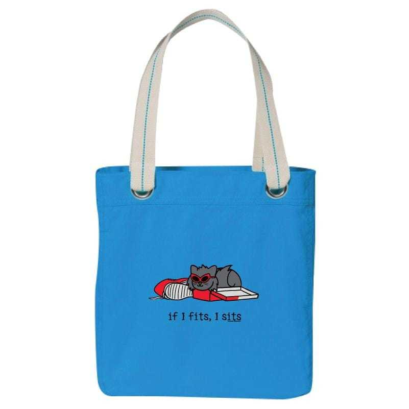 If I Fits, I Sits - Tilly - Canvas Tote