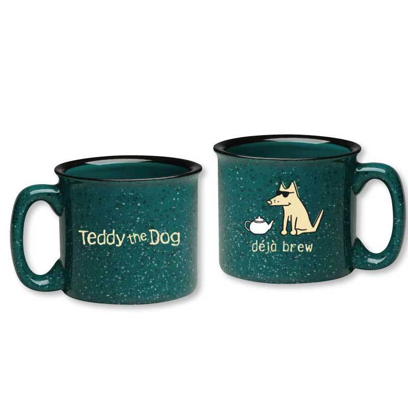 Teddy the Dog Ceramic Camper Mug