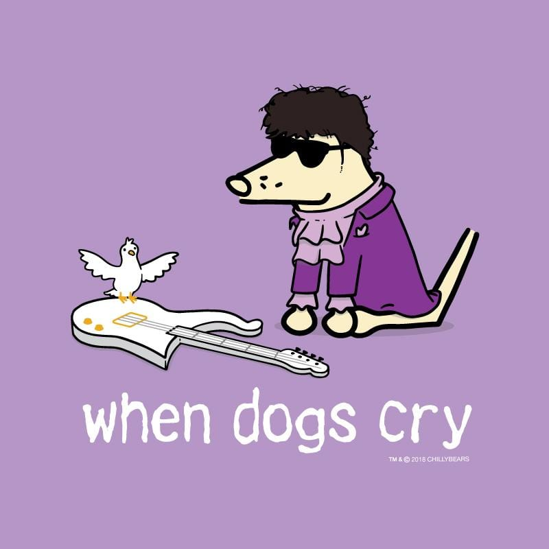 When Dogs Cry - Ladies T-Shirt V-Neck