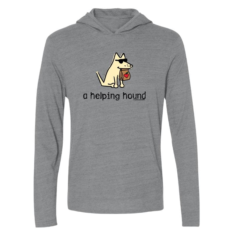 A Helping Hound - Long-Sleeve Hoodie T-Shirt