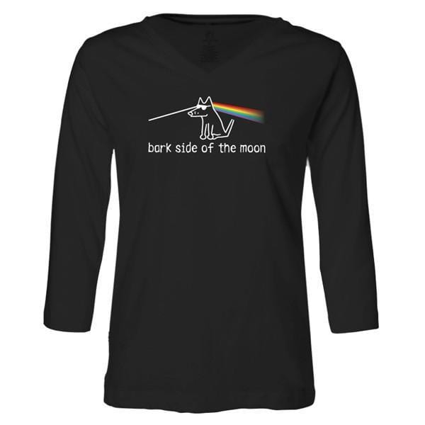 Bark Side of the Moon - Ladies T-Shirt 3-4 Sleeve - Teddy the Dog T-Shirts and Gifts