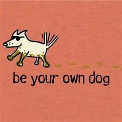 Be Your Own Dog - T-Shirt Lightweight Blend- Heather Orange
