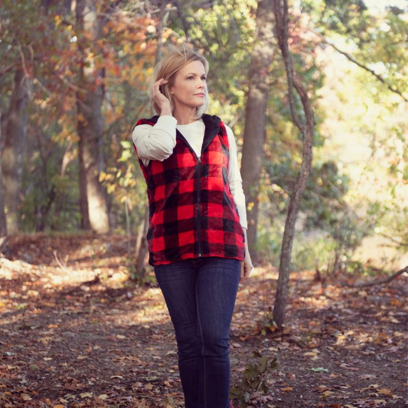 Teddy's Buffalo Plaid - Ladies Vest