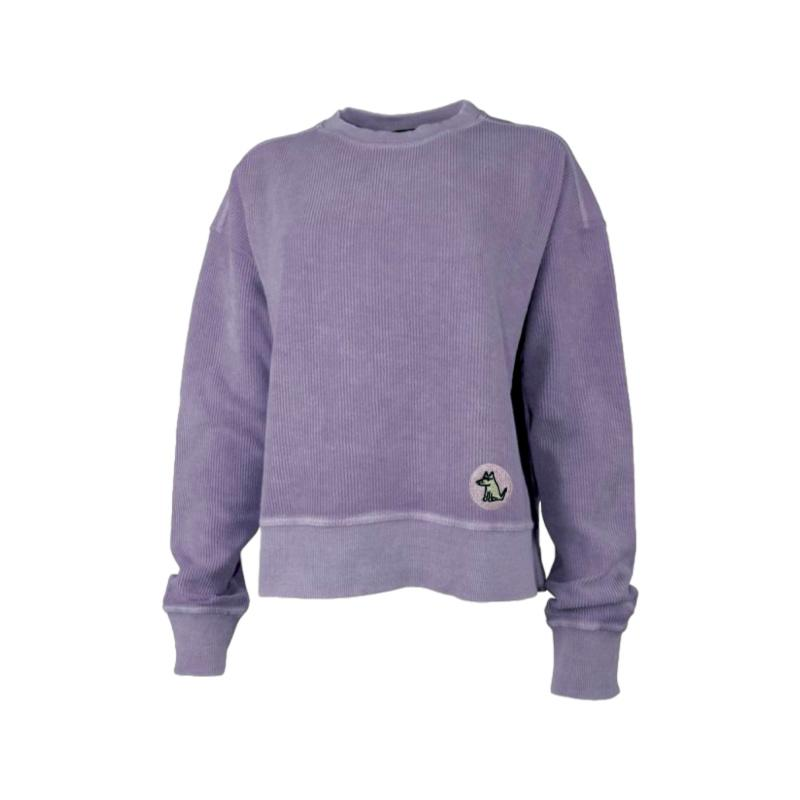 Teddy's Ribbed Cropped Sweatshirt