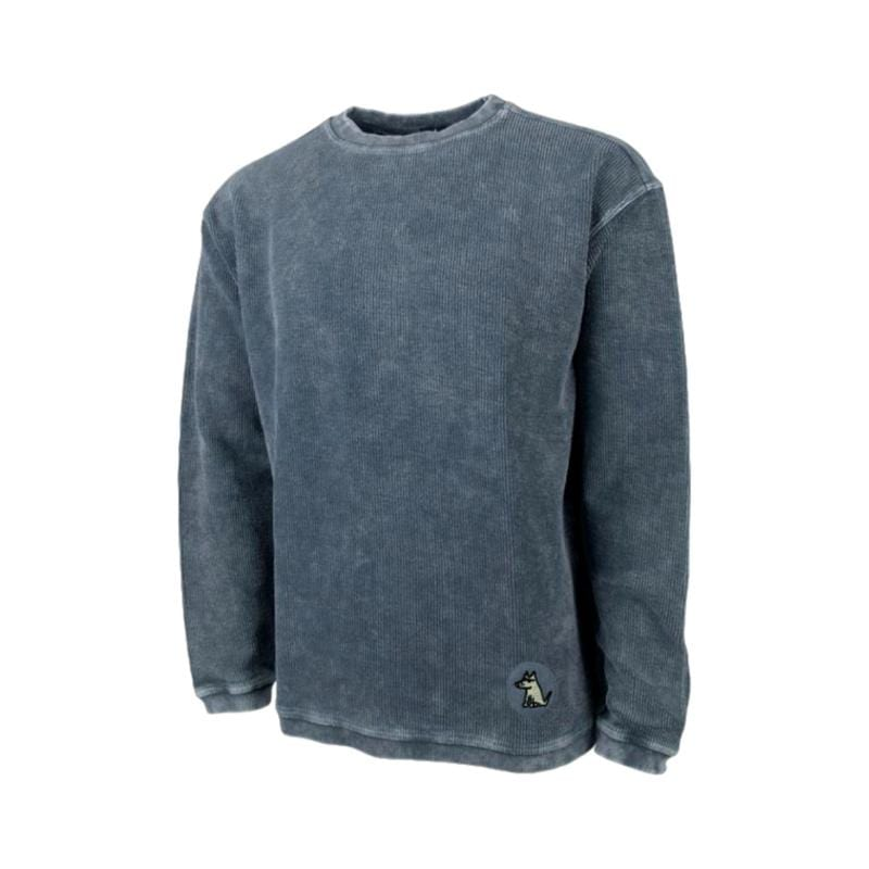 Teddy's Ribbed Crew Neck - Oversized Sweatshirt