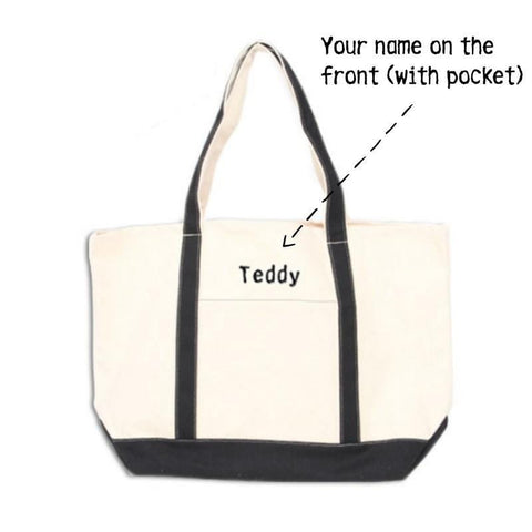 canvas boat tote customizable