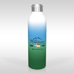 The Mountains Are Calling, And I Mutt's Go - Water Bottle