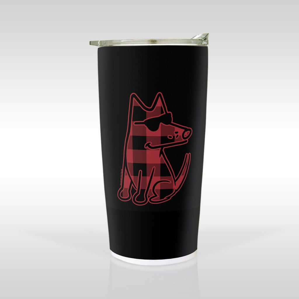 Buffalo Plaid Teddy - Tumbler