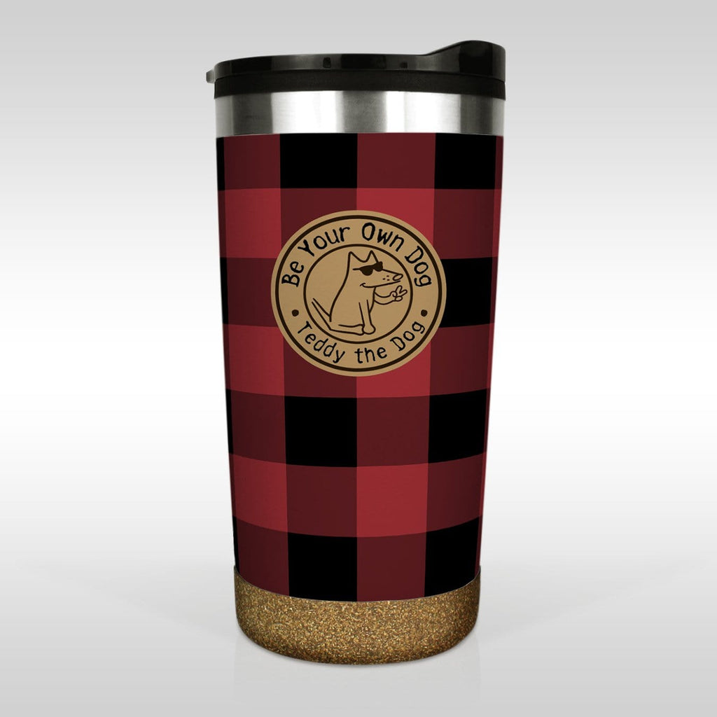 Be Your Own Dog Buffalo Plaid - Tumbler