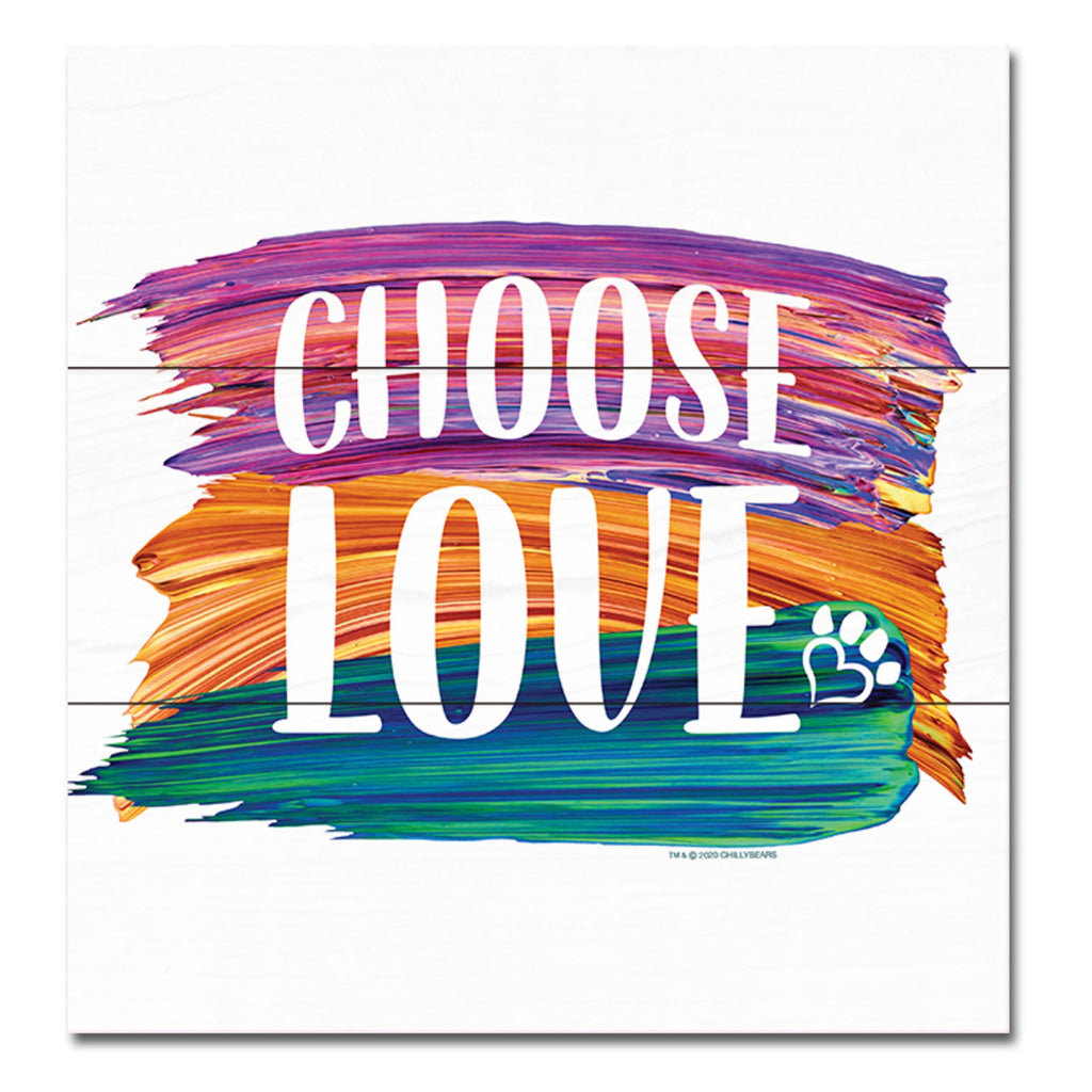 Choose Love - Wooden Plank Square