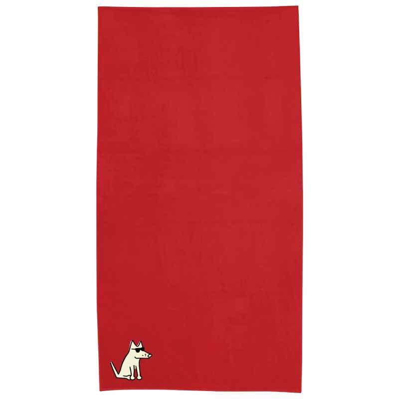 Salsa Red Plush Oversized Beach Towel