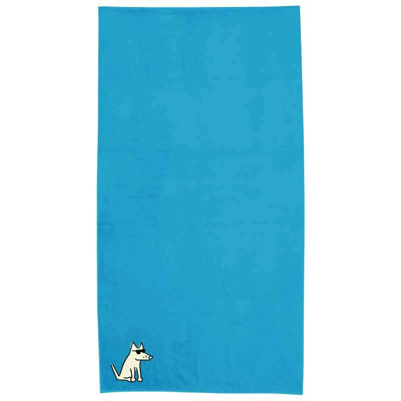 Turquoise Plush Oversized Beach Towel