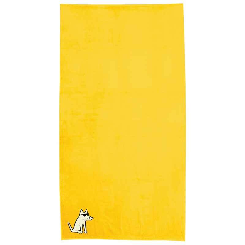 Sunshine Yellow Plush Oversized Beach Towel