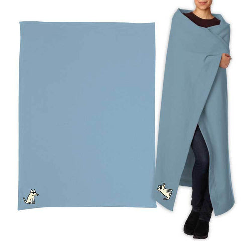 Teddy's Sweatshirt Blanket - Columbia Blue
