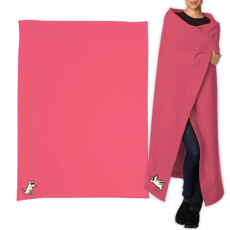 Teddy's Sweatshirt Blanket - Hot Pink
