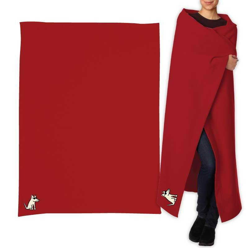 Teddy's Sweatshirt Blanket - Red