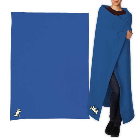 Teddy's Sweatshirt Blanket - Royal