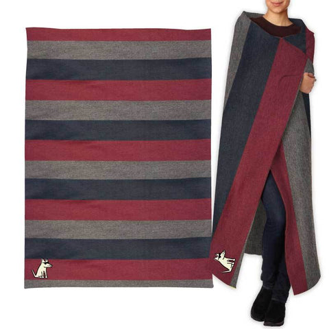 Teddy's Special Edition Sweatshirt Blanket - College Stripe