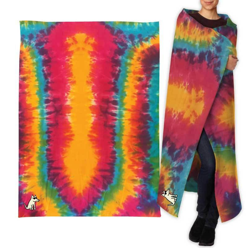 Teddy's Special Edition Sweatshirt Blanket - Rainbow Swirl
