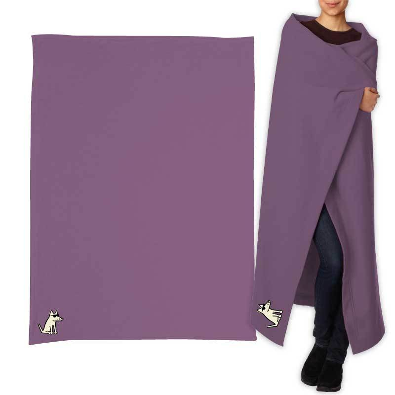 Teddy's Sweatshirt Blanket - Vintage Purple