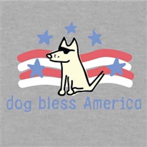 Dog Bless America - T-Shirt Lightweight Blend - Teddy the Dog T-Shirts and Gifts