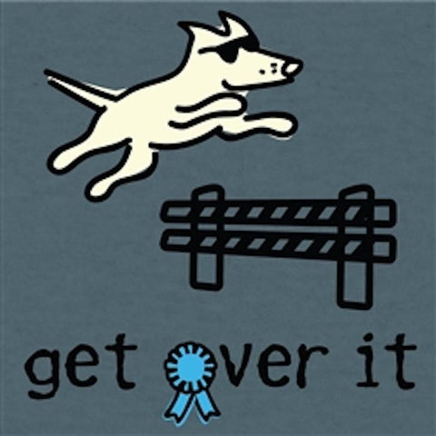 Get Over It - T-Shirt Lightweight Blend - Teddy the Dog T-Shirts and Gifts