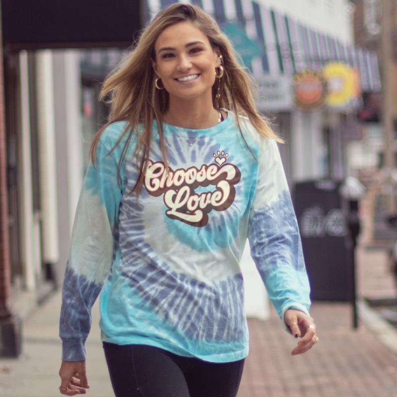 Groovy Choose Love - Classic Long-Sleeve T-Shirt