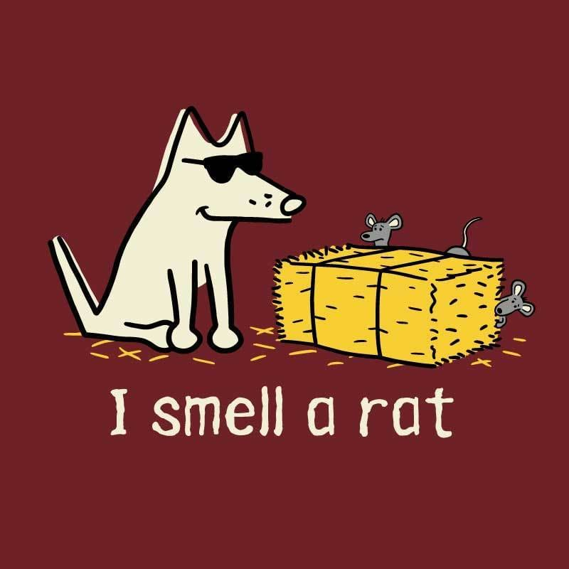 I Smell A Rat - Ladies T-Shirt Crew Neck - Teddy the Dog T-Shirts and Gifts