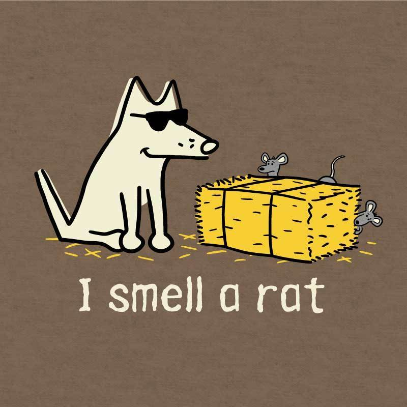 I Smell A Rat - Lightweight Tee - Teddy the Dog T-Shirts and Gifts