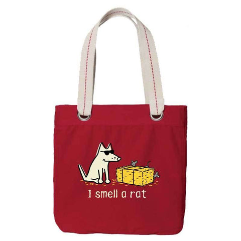 I Smell A Rat - Canvas Tote - Teddy the Dog T-Shirts and Gifts