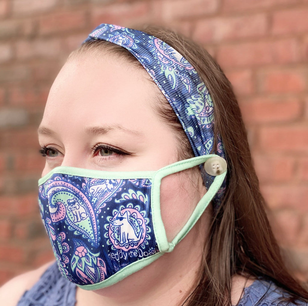 Paisley - Headband and Face Mask Bundle