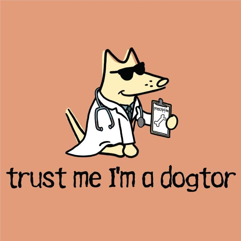 Trust Me I'm A Dogtor - Ladies T-Shirt V-Neck