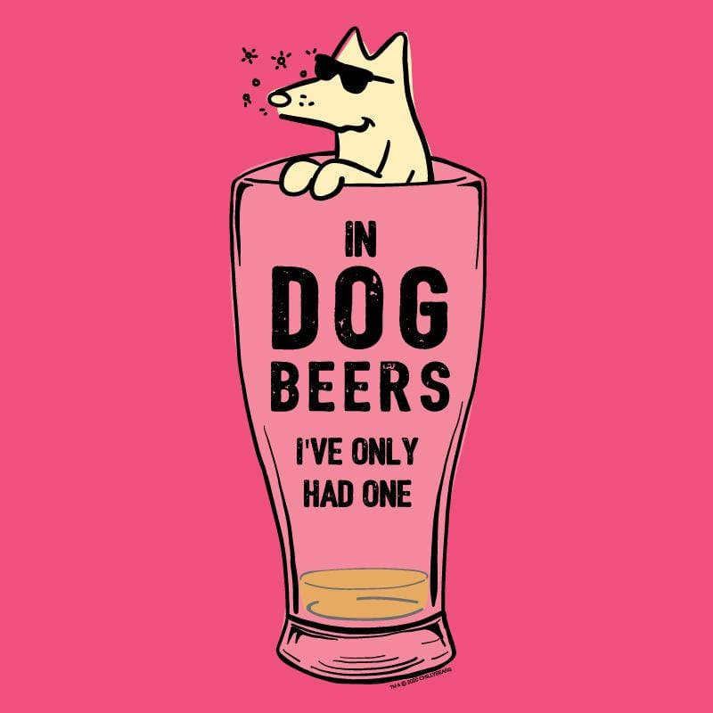 In Dog Beers I've Only Had One  - Ladies Curvy V-Neck Tee