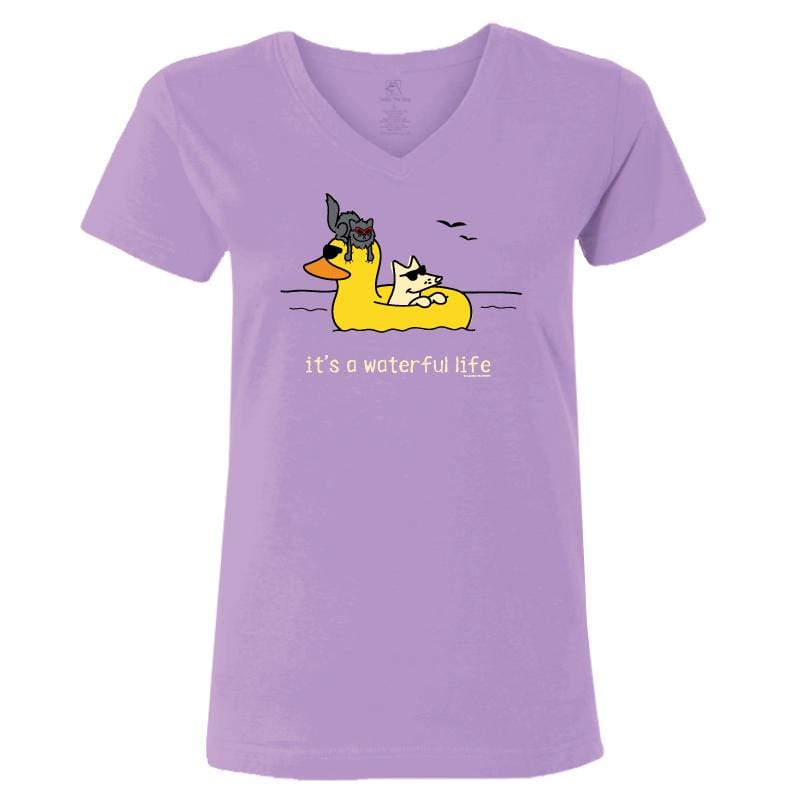 It's A Waterful Life - Ladies T-Shirt V-Neck