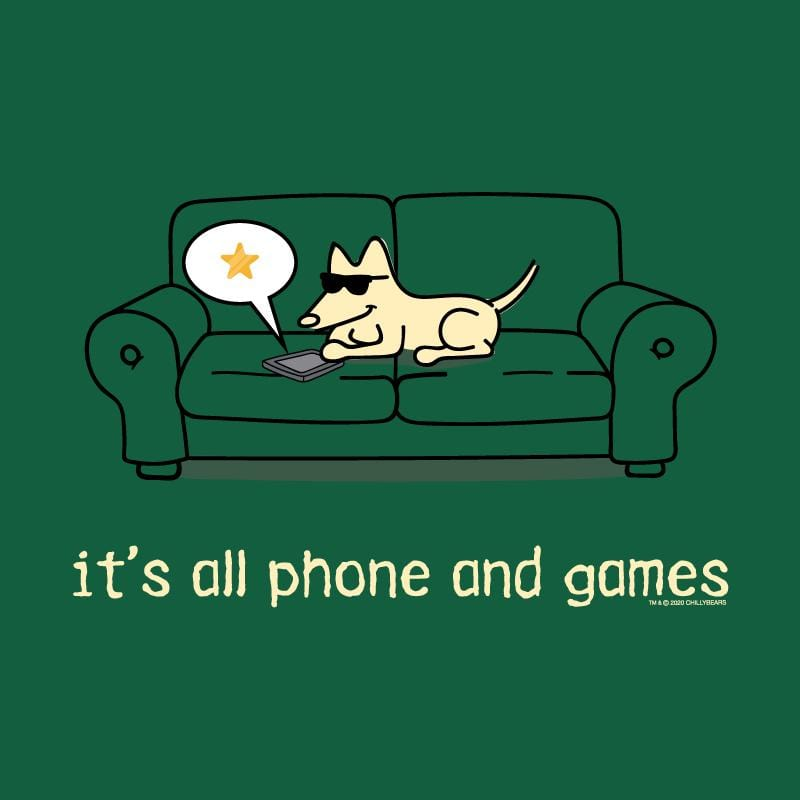 It's All Phones And Games - Lightweight Tee