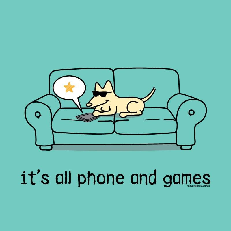 It's All Phones And Games - Ladies T-Shirt V-Neck