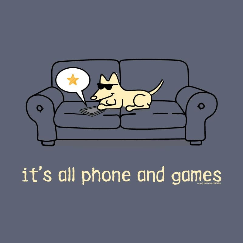 It's All Phones And Games  - Classic Long-Sleeve T-Shirt