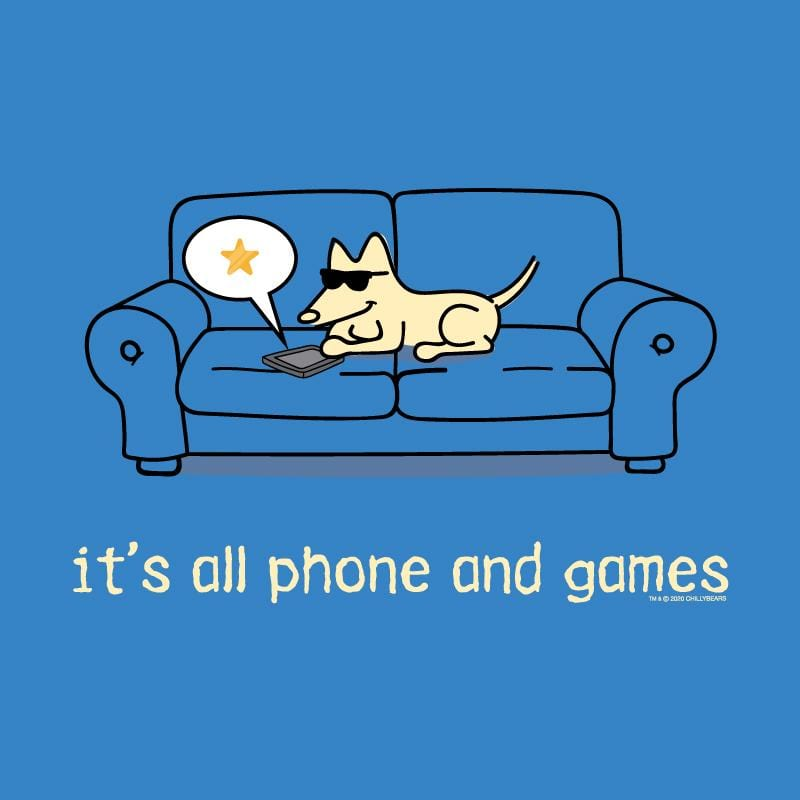 It's All Phones And Games - Long-Sleeve Hoodie T-Shirt